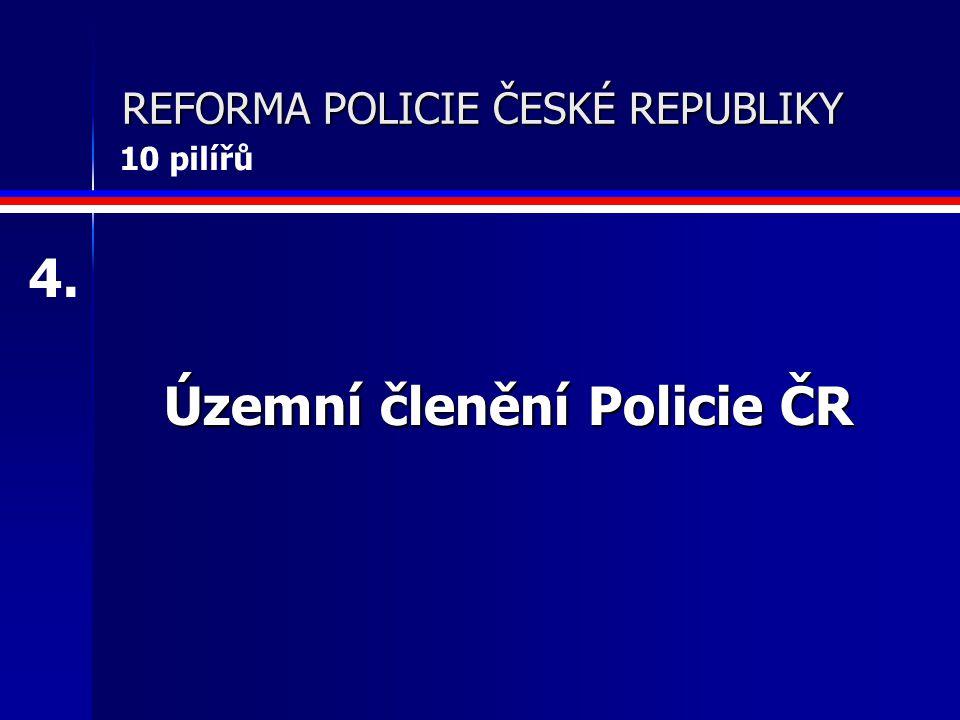 REFORMA POLICIE ČESKÉ REPUBLIKY Nová struktura neuniformované policie 5. 10 pilířů
