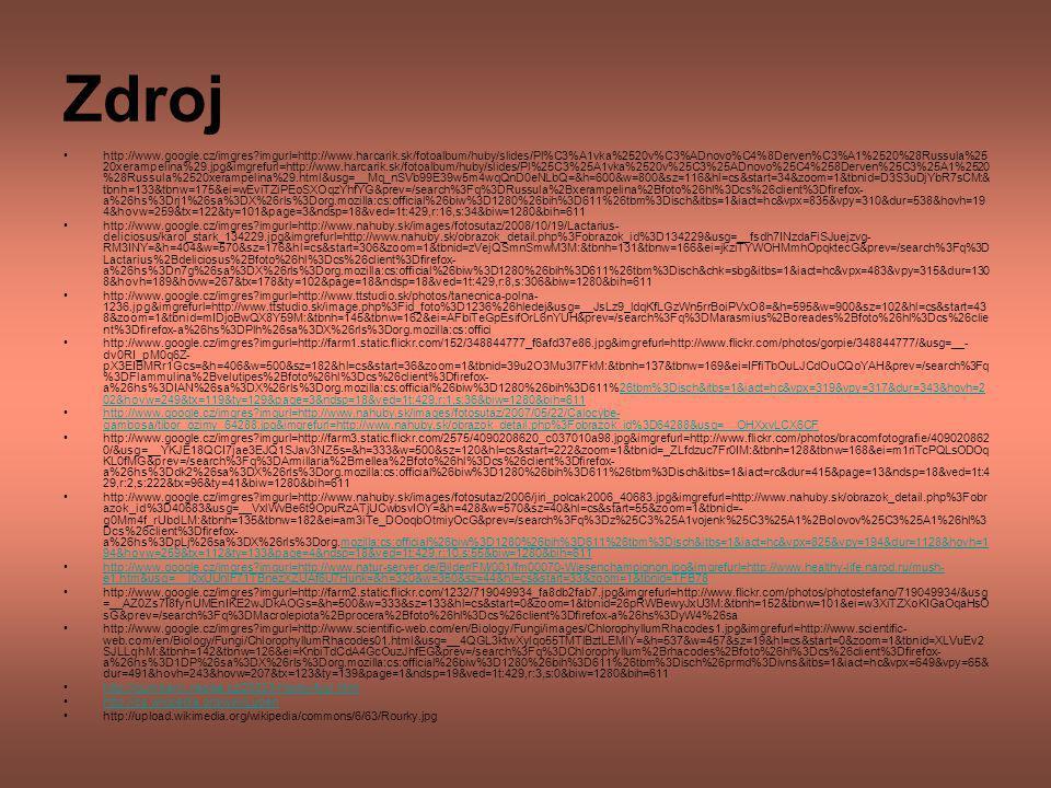 Zdroj http://www.google.cz/imgres?imgurl=http://www.harcarik.sk/fotoalbum/huby/slides/Pl%C3%A1vka%2520v%C3%ADnovo%C4%8Derven%C3%A1%2520%28Russula%25 2