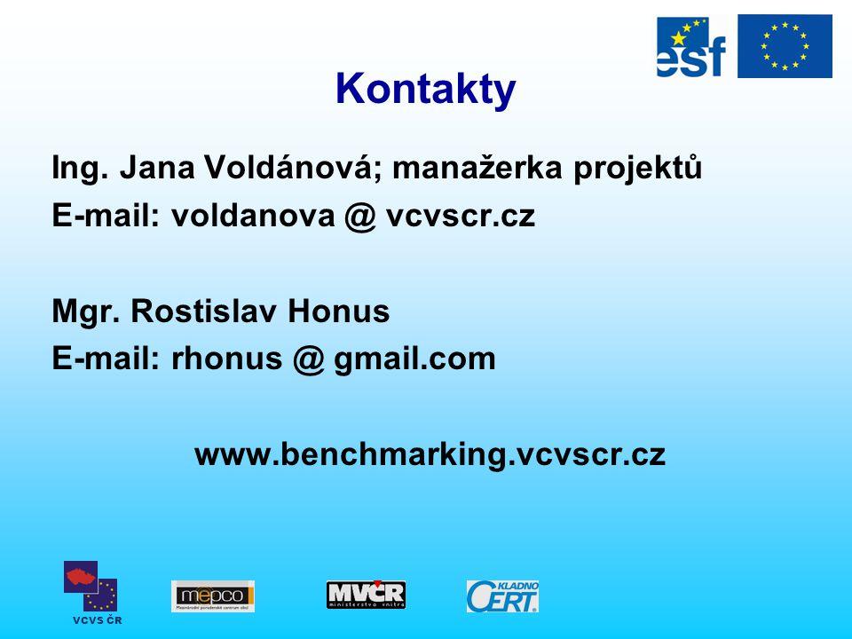 VCVS ČR Kontakty Ing.Jana Voldánová; manažerka projektů E-mail: voldanova @ vcvscr.cz Mgr.