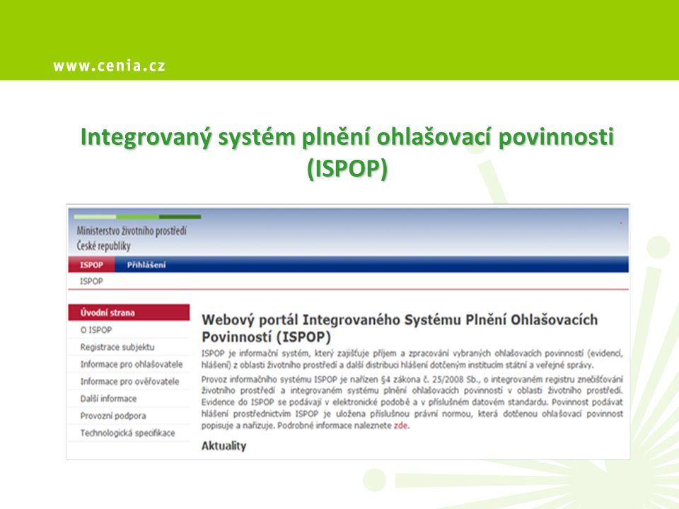 Integrovaný systém plnění ohlašovací povinnosti (ISPOP)