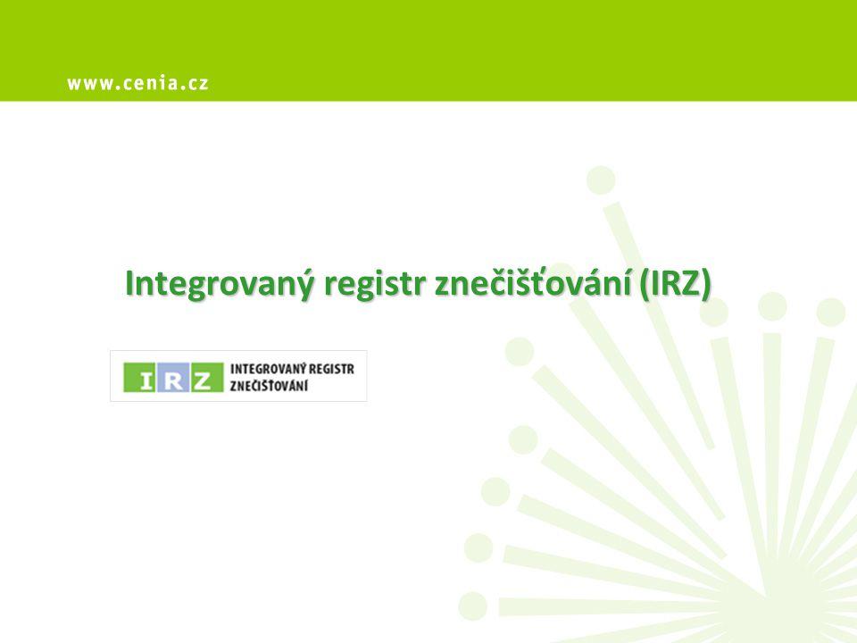 Integrovaný registr znečišťování (IRZ)