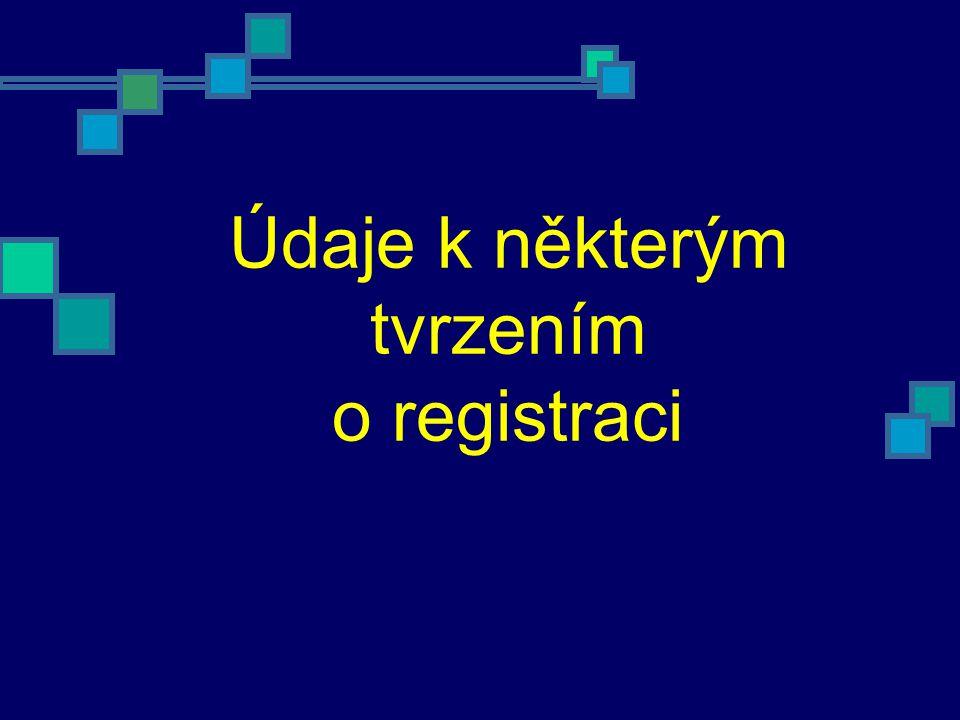 Údaje k některým tvrzením o registraci