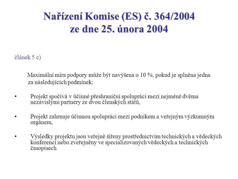 Nařízení Komise (ES) č. 364/2004 ze dne 25.