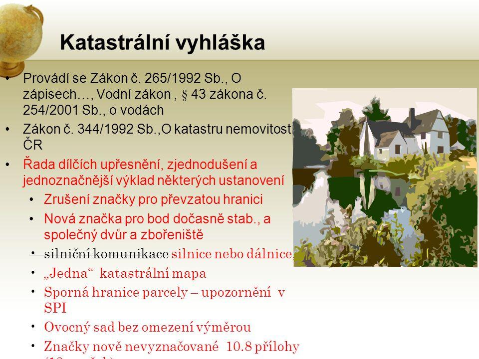 Práce s dvojími souřadnicemi v systému V souladu s vyhláškou č.