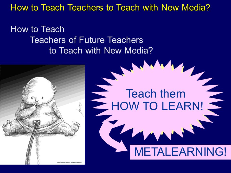 How to Teach Teachers to Teach with New Media. How to Teach Teachers to Teach with New Media.