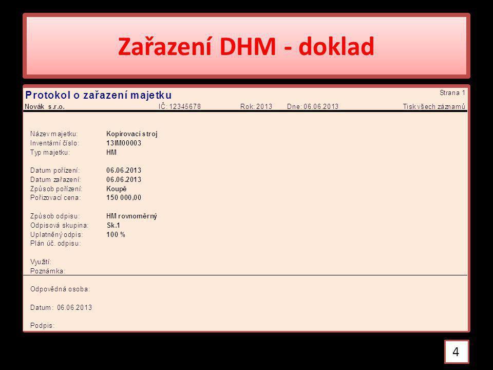 Zařazení DHM - doklad 4