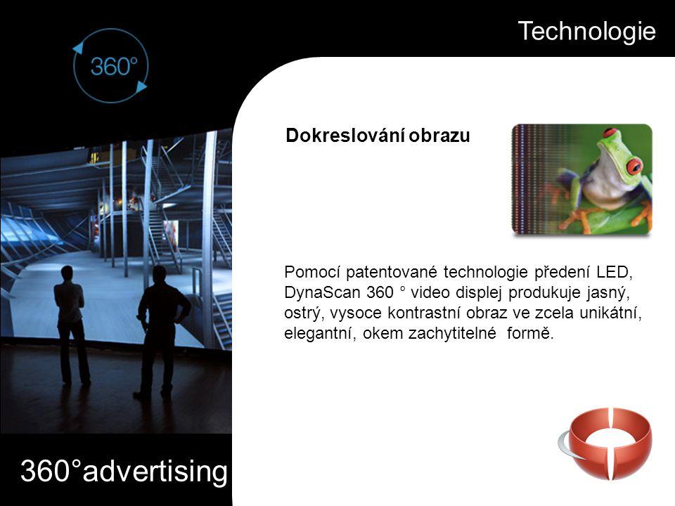 360°advertising Pomocí patentované technologie předení LED, DynaScan 360 ° video displej produkuje jasný, ostrý, vysoce kontrastní obraz ve zcela unik