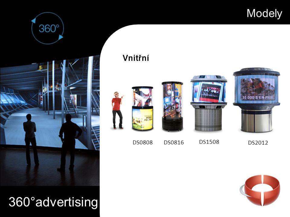 360°advertising Modely Vnitřní DS0808DS0816 DS1508 DS2012