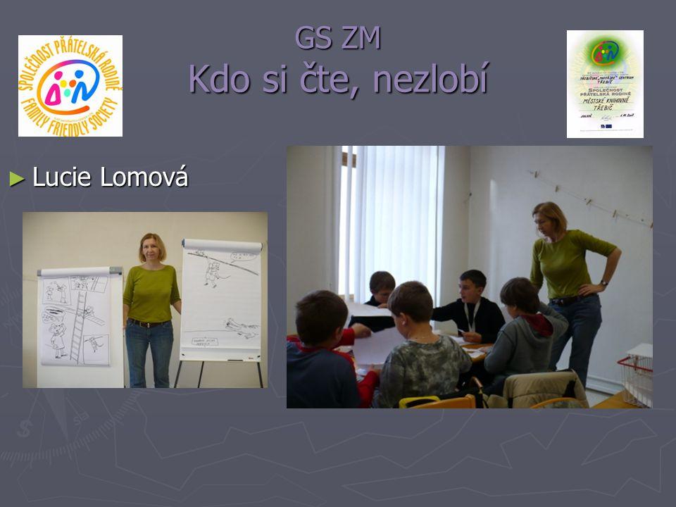 GS ZM Kdo si čte, nezlobí ► Lucie Lomová