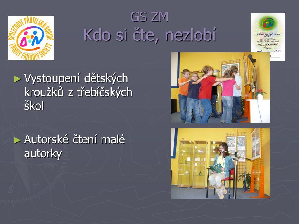 GS ZM Kdo si čte, nezlobí ► Vystoupení dětských kroužků z třebíčských škol ► Autorské čtení malé autorky