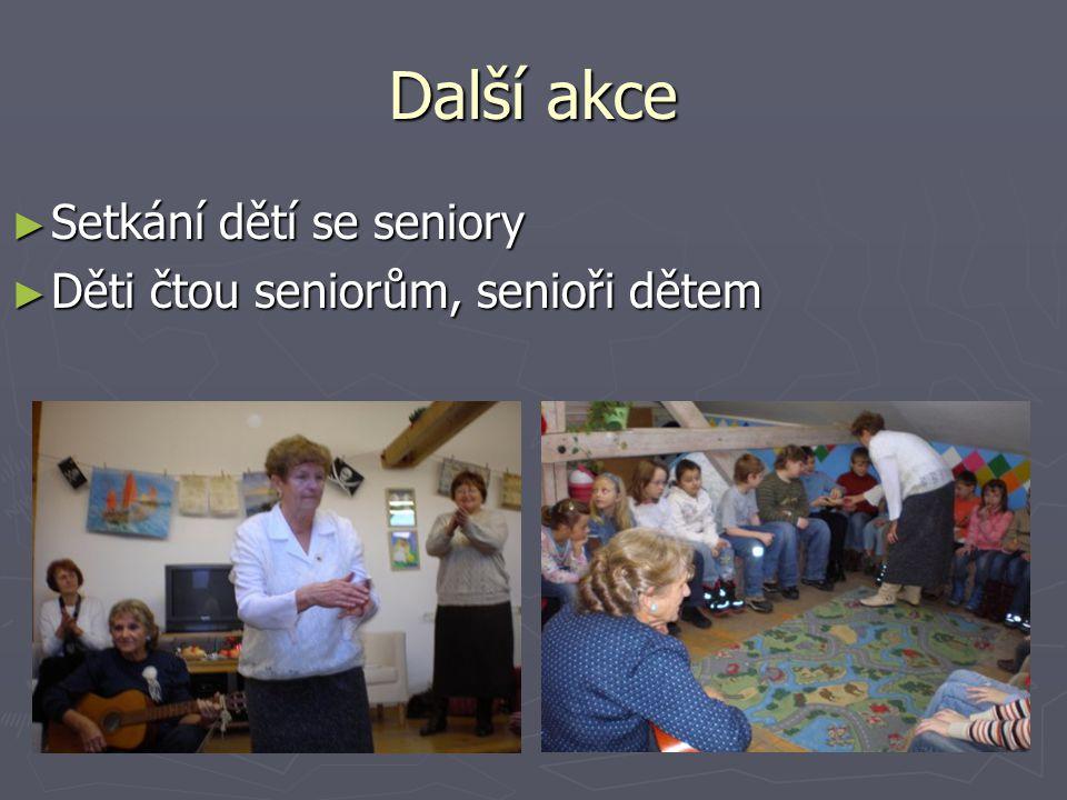 Další akce ► Setkání dětí se seniory ► Děti čtou seniorům, senioři dětem