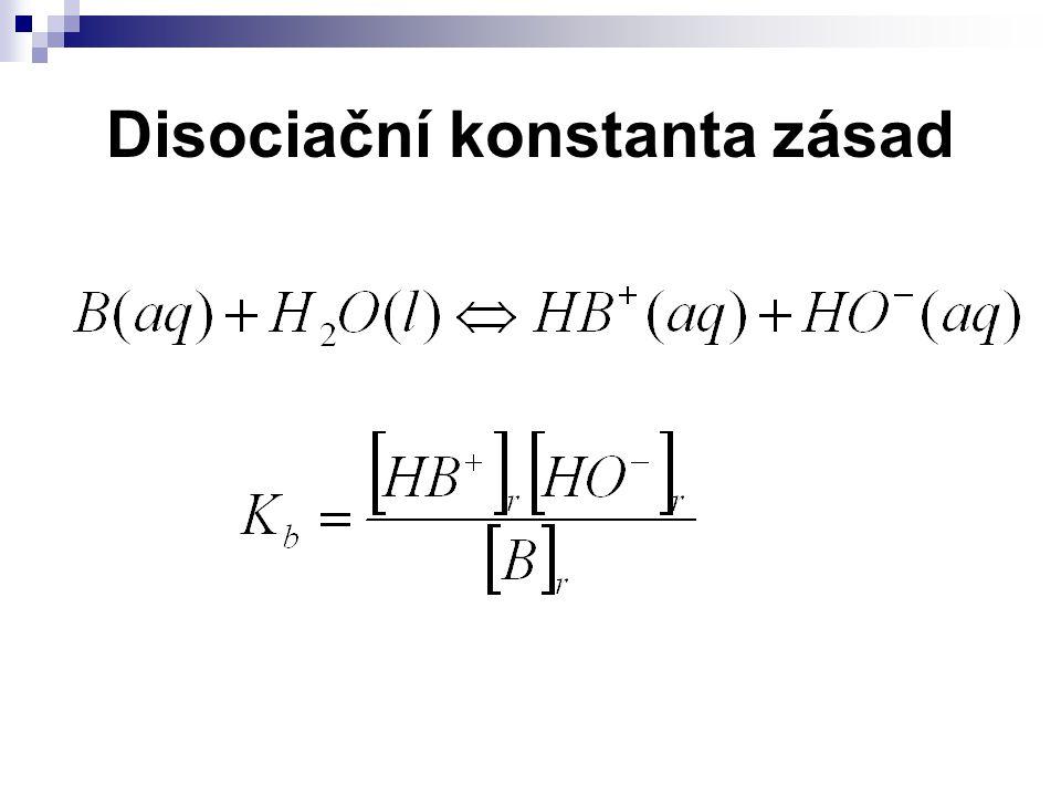 Disociační konstanta zásad
