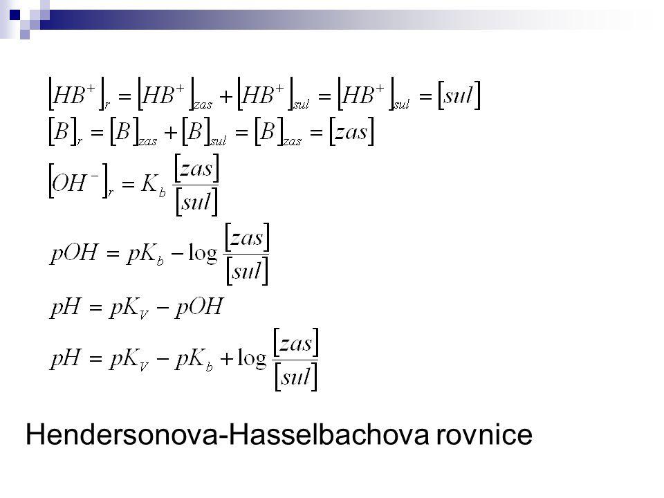 Hendersonova-Hasselbachova rovnice