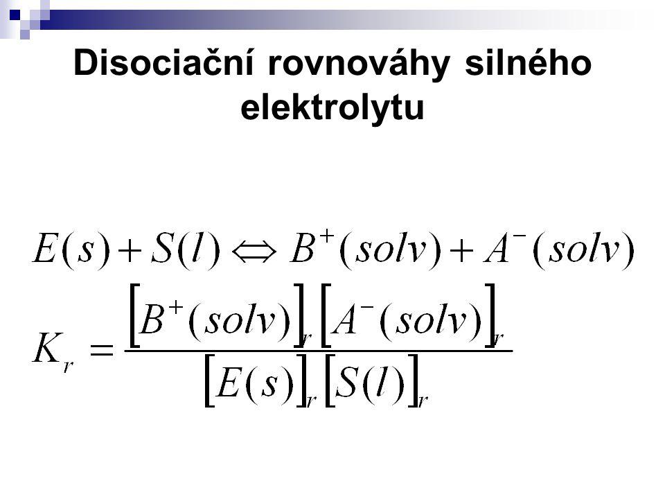 Součin rozpustnosti Zdánlivý součin rozpustnosti Termodynamický součin rozpustnosti