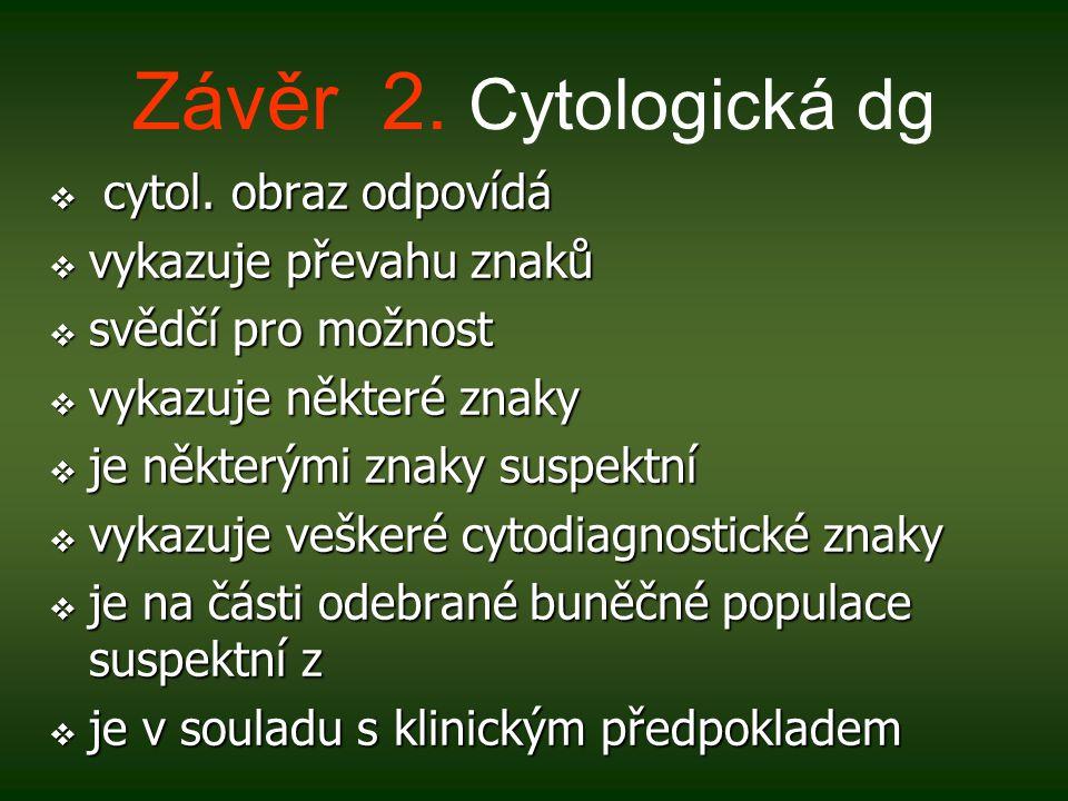 Závěr 2.Cytologická dg  cytol.