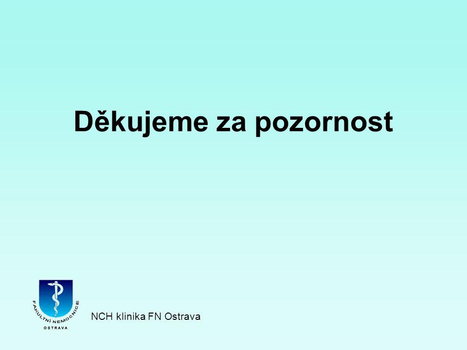 Děkujeme za pozornost NCH klinika FN Ostrava
