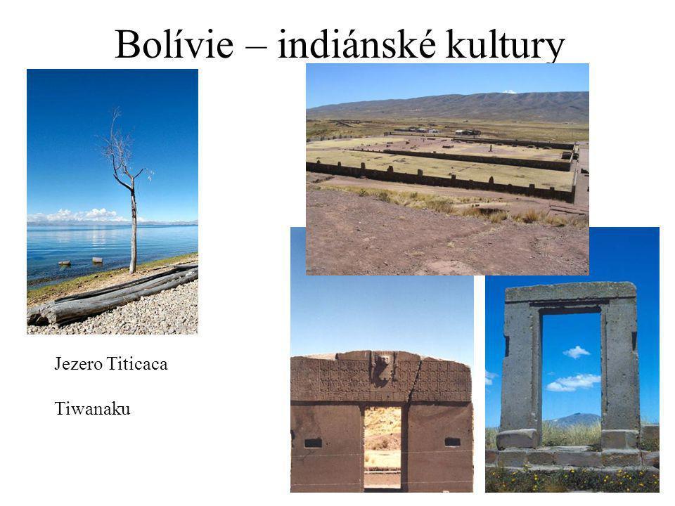 Bolívie – indiánské kultury Jezero Titicaca Tiwanaku