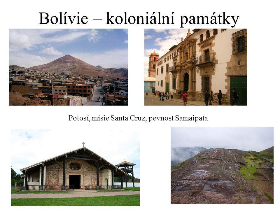 Bolívie – koloniální památky Potosí, misie Santa Cruz, pevnost Samaipata