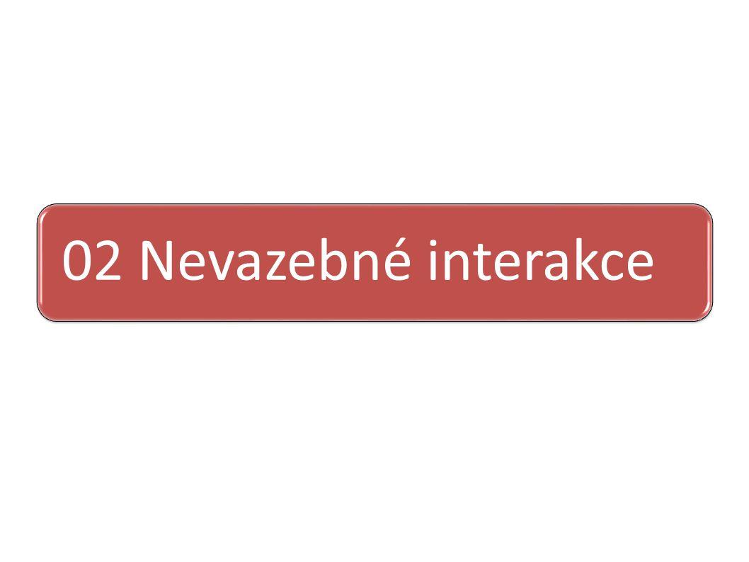 02 Nevazebné interakce
