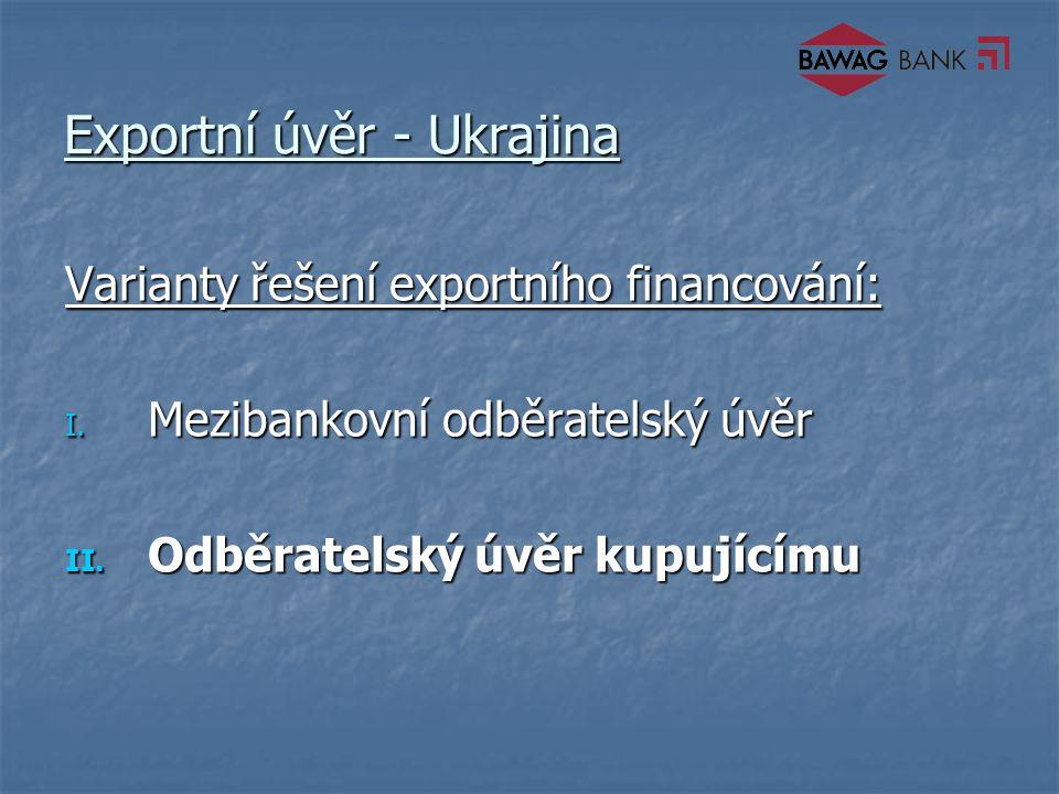 Exportní úvěr - Ukrajina Varianty řešení exportního financování: I.