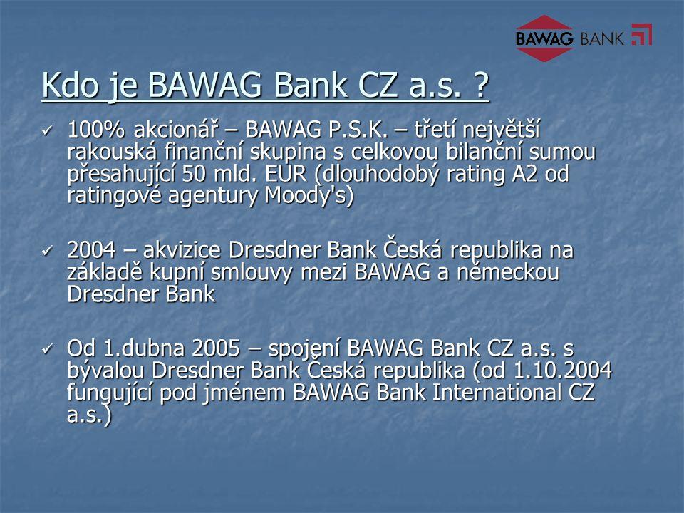 Kdo je BAWAG Bank CZ a.s. 100% akcionář – BAWAG P.S.K.