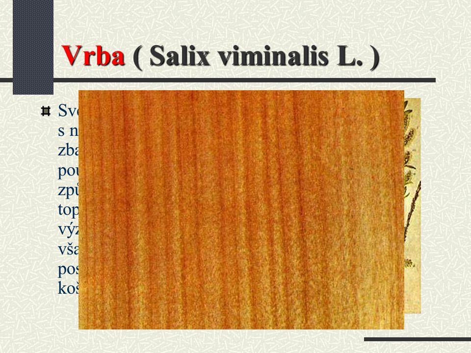 Třešeň ( TR ) Použití : Dýhy na nábytek a vnitřní výrobky, dřevo pro umělecké předměty, hudební nástroje. Odolnost : Za určitých podmínek odolné proti