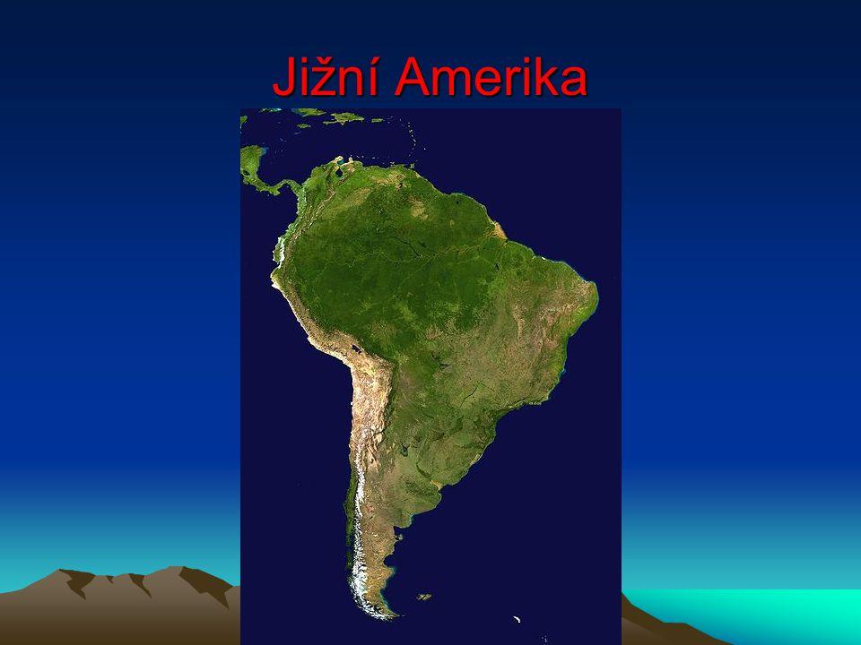 Vlhké tropy – tropický deštný les Amazonie Pravidelné lijáky, průměrná roční teplota kolem 25 O C Vzácná dřeva – mahagon, eben, palisandr Fauna – hadi – anakonda, hroznýš - opice - kosman mravenečník, lenochod, tapír piraňa, kajman Papoušci, hmyz, motýli Flóra - orchidej, liány