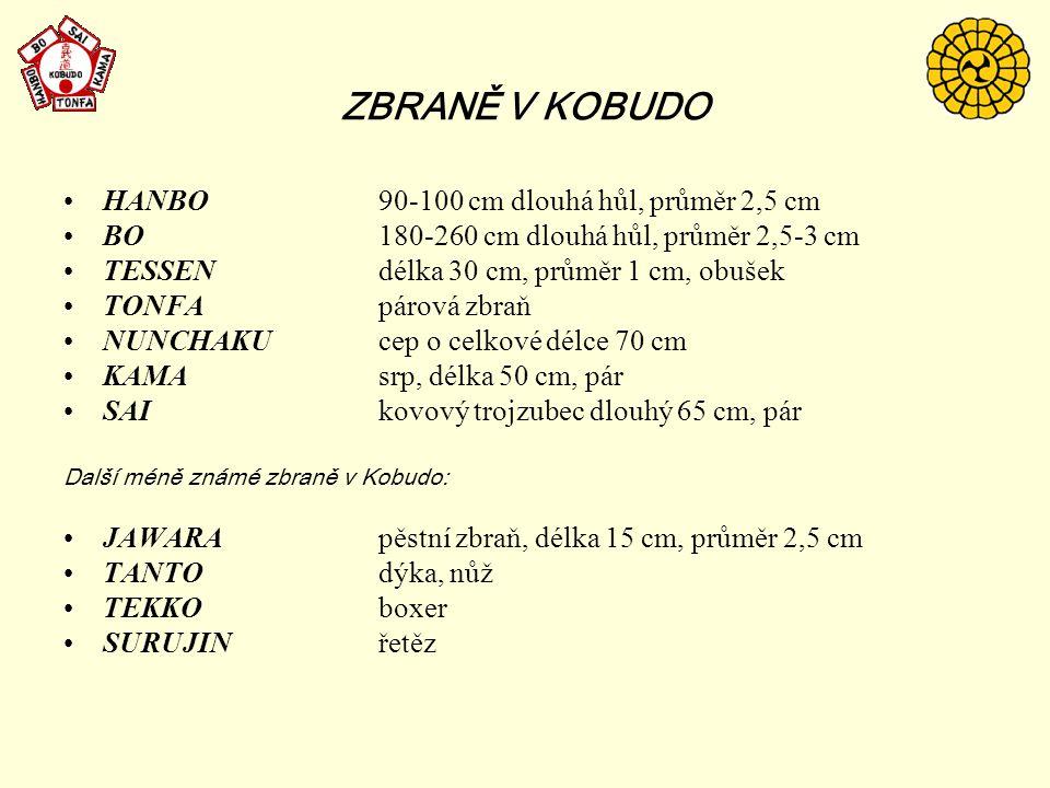 K OBUDO  Kobudo probíhá ve dvou hlavních liniích.