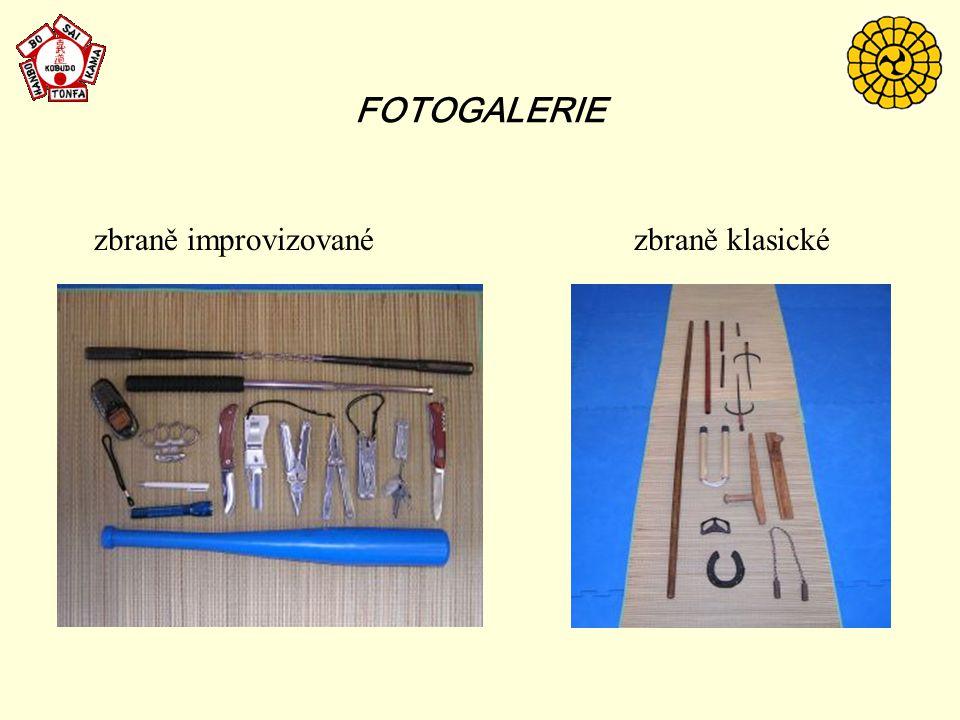 FOTOGALERIE zbraně improvizované zbraně klasické