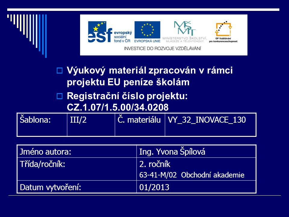Úkoly: 3.ČR je členem mezinárodních finančních institucí.