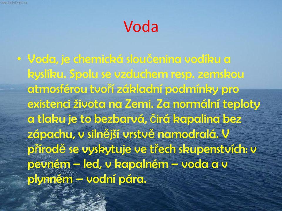 Pevné skupenství Led – Molekuly pevného skupenství jsou poutány k sob ě velmi t ě sn ě a zaujímají stalou polohu.