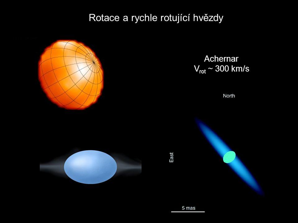 Achernar V rot ~ 300 km/s Rotace a rychle rotující hvězdy
