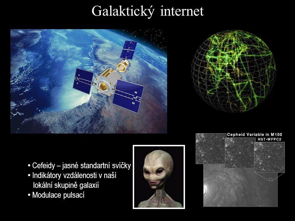 Galaktický internet Cefeidy – jasné standartní svíčky Indikátory vzdálenosti v naší lokální skupině galaxií Modulace pulsací
