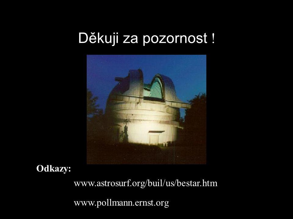 Děkuji za pozornost ! www.astrosurf.org/buil/us/bestar.htm www.pollmann.ernst.org Odkazy: