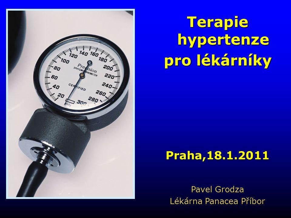 Terapie hypertenze pro lékárníky Praha,18.1.2011 Pavel Grodza Lékárna Panacea Příbor