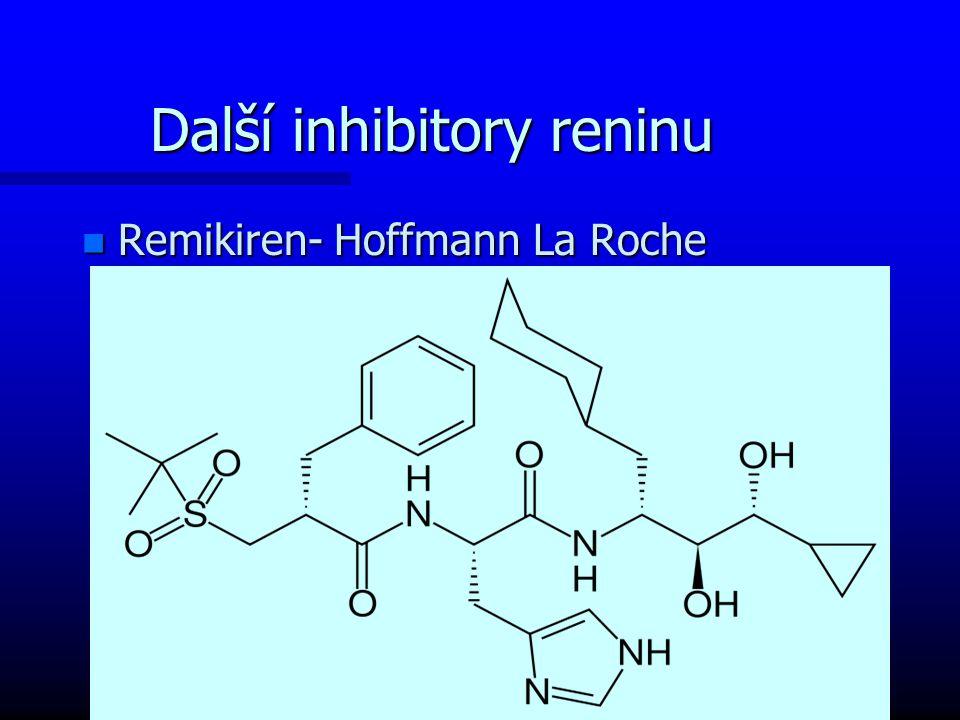 Další inhibitory reninu n Remikiren- Hoffmann La Roche