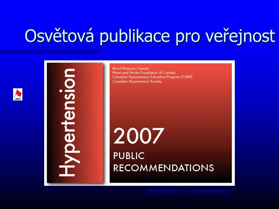Osvětová publikace pro veřejnost Download at www.hypertension.ca