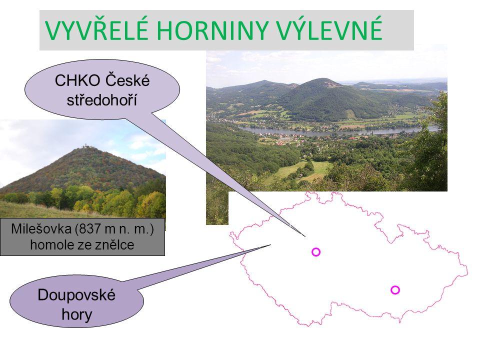 Milešovka (837 m n. m.) homole ze znělce Praha Brno Doupovské hory CHKO České středohoří VYVŘELÉ HORNINY VÝLEVNÉ