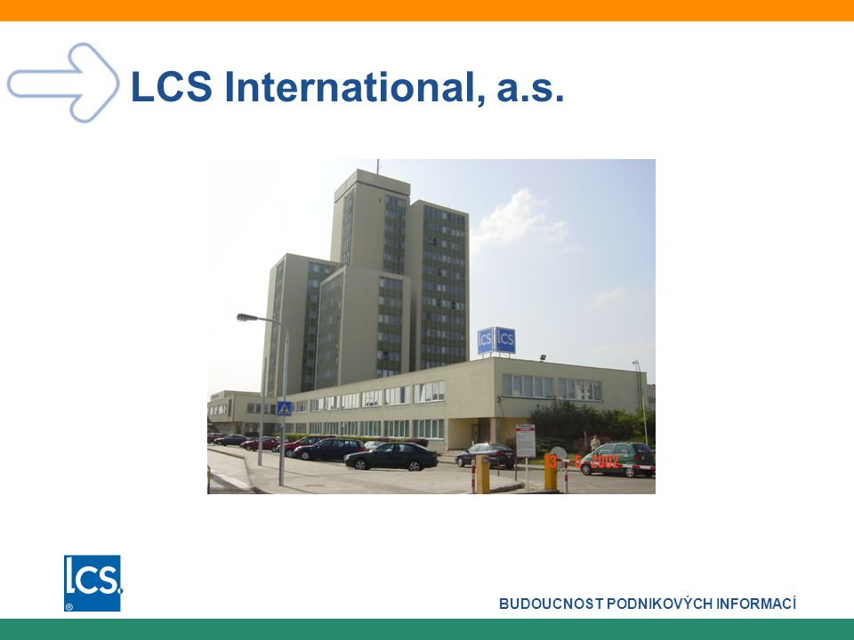 BUDOUCNOST PODNIKOVÝCH INFORMACÍ 2 Představení skupiny LCS  Současnost  LCS IT = LCS International, a.s + LCS Softprofes, a.s.