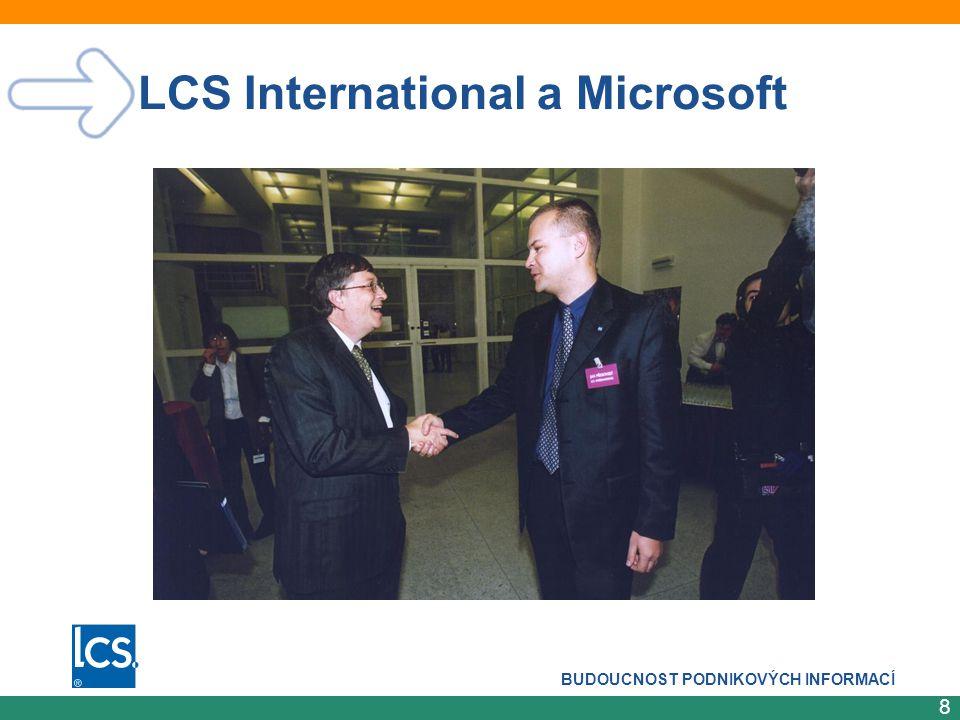 BUDOUCNOST PODNIKOVÝCH INFORMACÍ 9 IT menších firem v roce 2005 CO UDĚLÁ MICROSOFT.