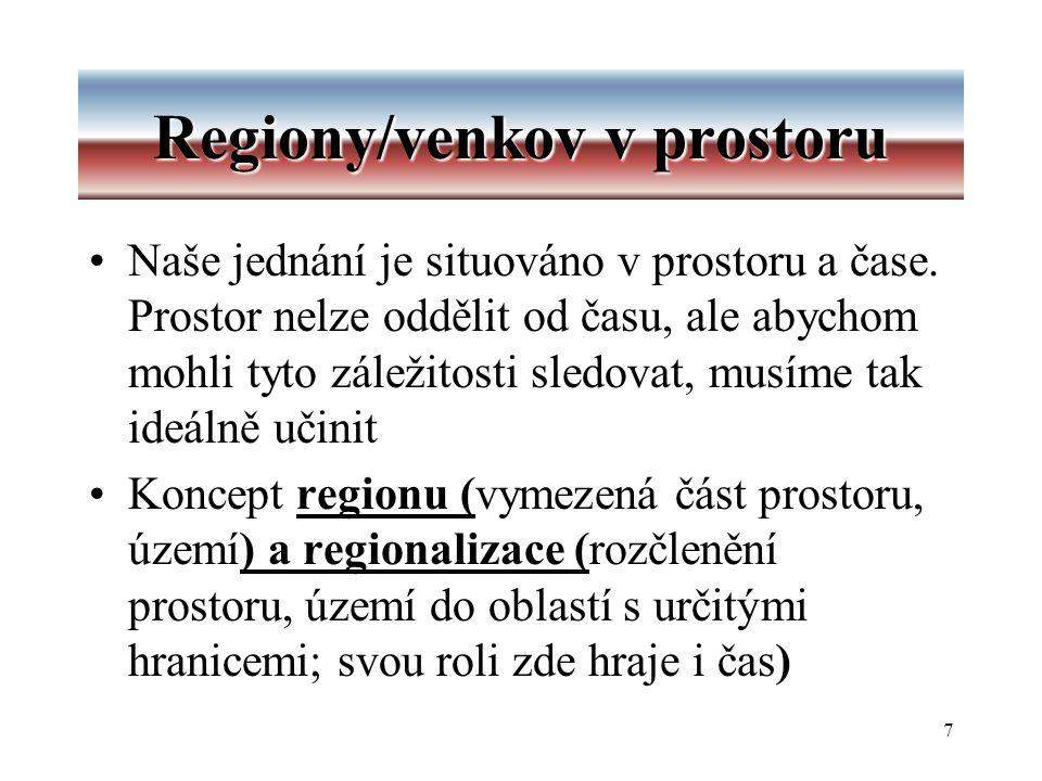7 Regiony/venkov v prostoru Naše jednání je situováno v prostoru a čase.