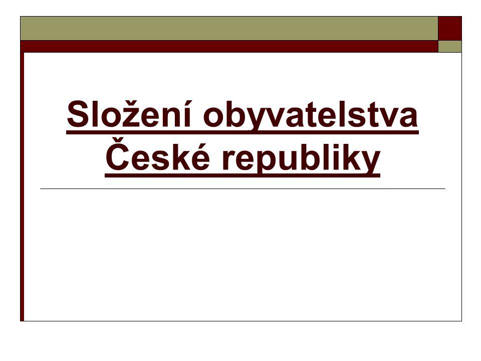 Složení obyvatelstva České republiky