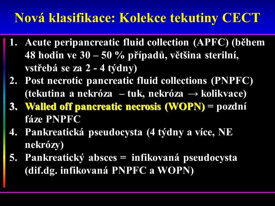 1.Acute peripancreatic fluid collection (APFC) (během 48 hodin ve 30 – 50 % případů, většina sterilní, vstřebá se za 2 - 4 týdny) 2.Post necrotic panc