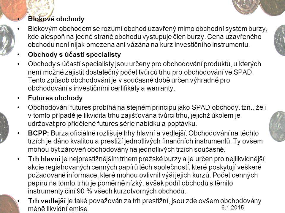 ORGÁNY BURZY Valná hromada akcionářů Burzovní komora Burzovní výbory Dozorčí rada