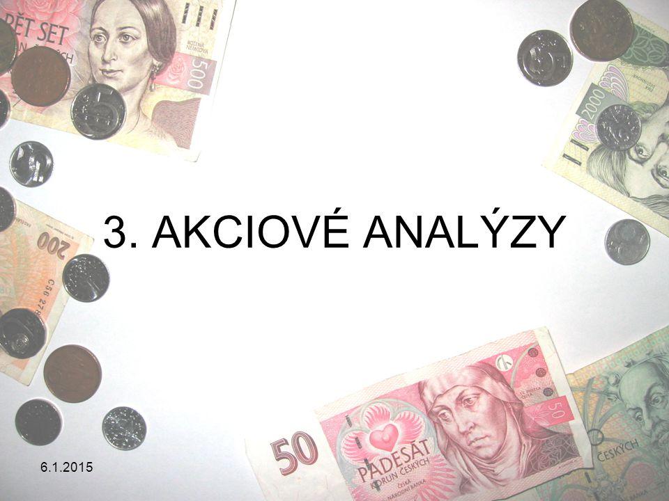 6.1.2015 AKCIOVÉ ANALÝZY Akciové analýzy se pokouší odpovědět na otázku, co určuje cenu akcií.