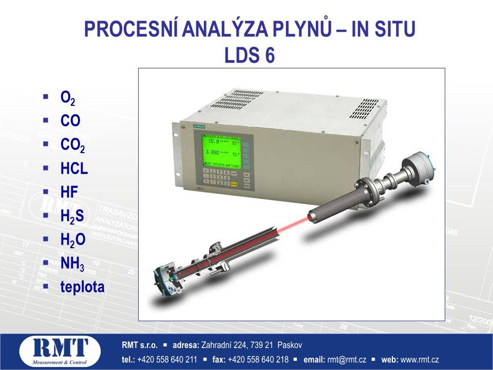  O 2  CO  CO 2  HCL  HF  H 2 S  H 2 O  NH 3  teplota PROCESNÍ ANALÝZA PLYNŮ – IN SITU LDS 6