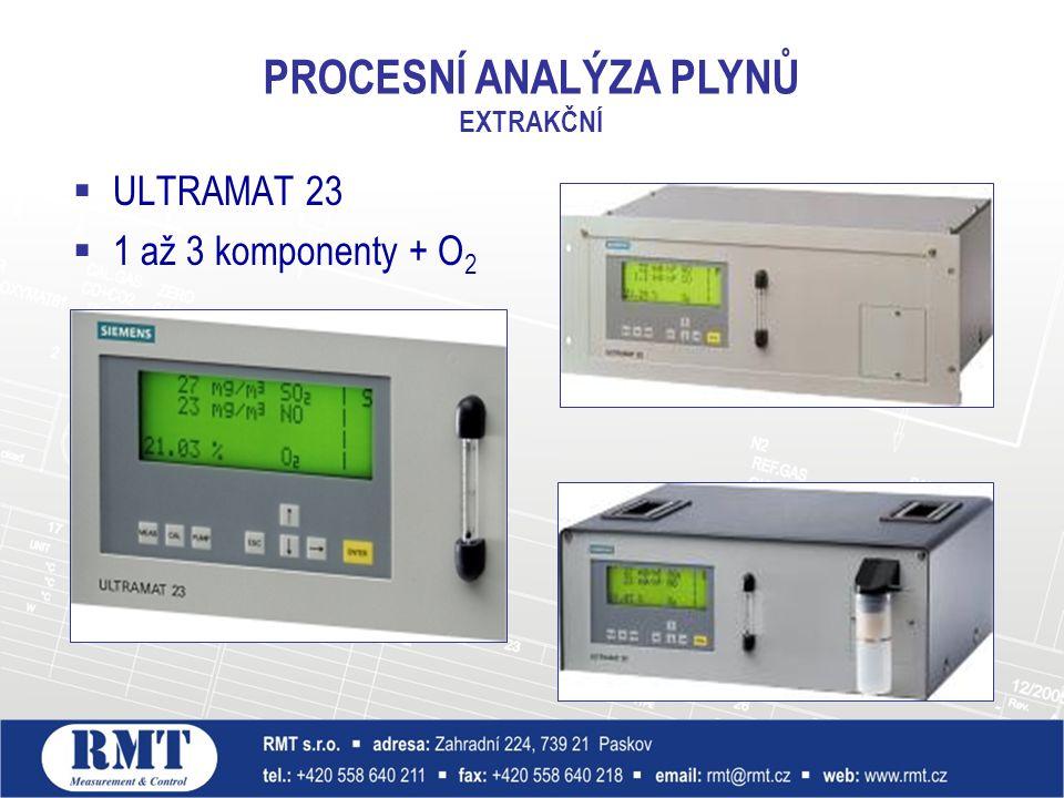  ULTRAMAT 23  1 až 3 komponenty + O 2 PROCESNÍ ANALÝZA PLYNŮ EXTRAKČNÍ