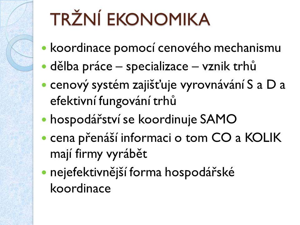 CENTRÁLNĚ PLÁNOVANÁ EKONOMIKA hospodářství je koordinováno z centra důsledek hospodářských problémů od konce 19.