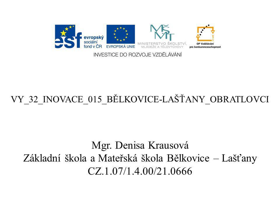 VY_32_INOVACE_015_BĚLKOVICE-LAŠŤANY_OBRATLOVCI Mgr.