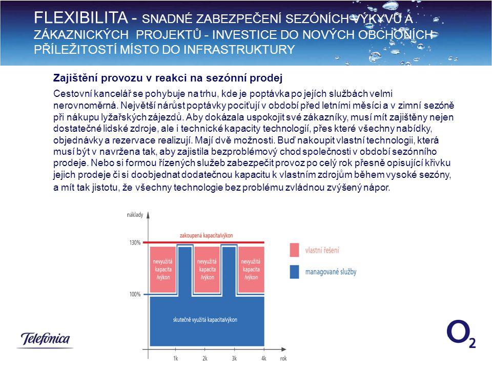 FLEXIBILITA - SNADNÉ ZABEZPEČENÍ SEZÓNÍCH VÝKYVŮ A ZÁKAZNICKÝCH PROJEKTŮ - INVESTICE DO NOVÝCH OBCHONÍCH PŘÍLEŽITOSTÍ MÍSTO DO INFRASTRUKTURY 9 Zajištění provozu v reakci na sezónní prodej Cestovní kancelář se pohybuje na trhu, kde je poptávka po jejích službách velmi nerovnoměrná.